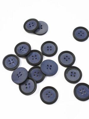 Пуговица маленькая пластик синяя с черным ободком (р1365) - Фото 16