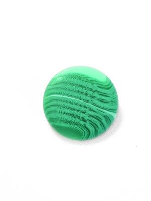 Пуговица большая ярко-зеленая с разводами (р1367) - Фото 12