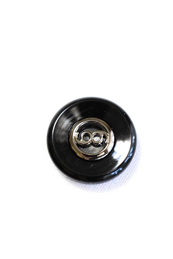 Пуговица пластик черная глянцевая на прокол (р1369) - Фото 6