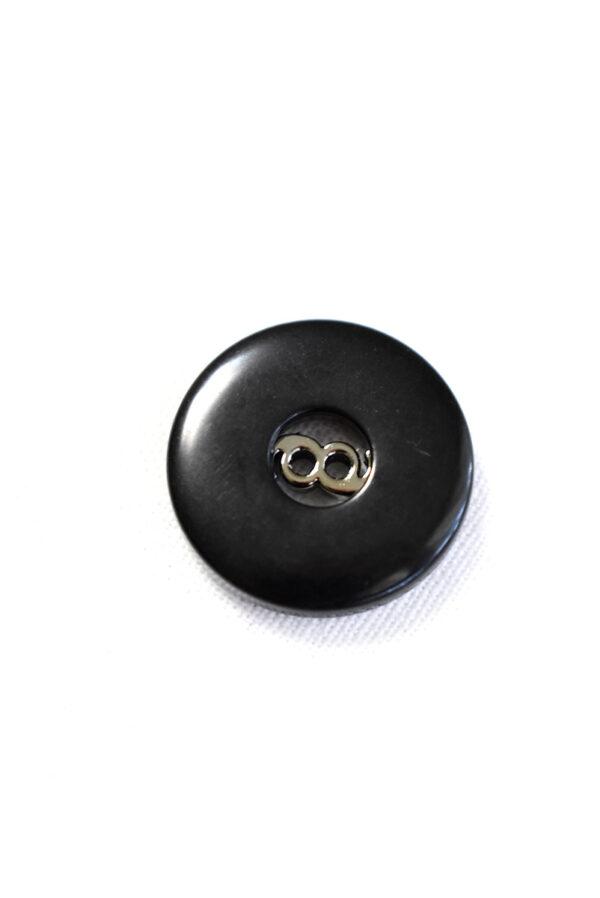 Пуговица пластик черная глянцевая на прокол (р1369) - Фото 8