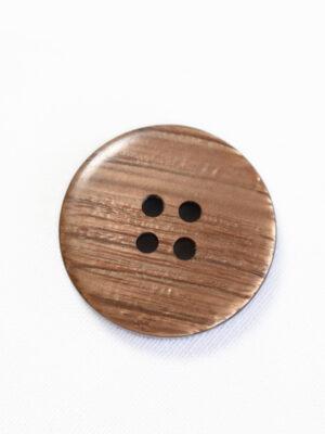 Пуговица большая пластик коричневого цвета с ободком (р1378) - Фото 14