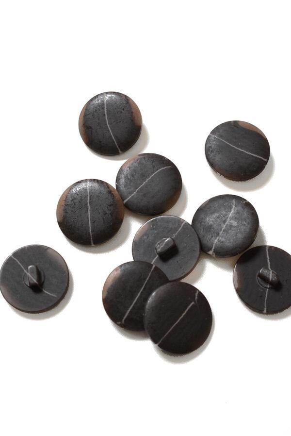 Пуговица большая темно-коричневая с разводами (р1381) - Фото 8