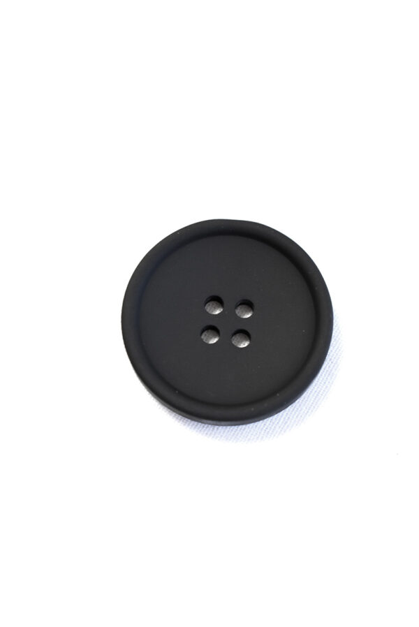 Пуговица пластик черная на прокол матовая (р1385) - Фото 6