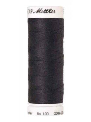 Универсальная нить AMANN GROUP METTLER Германия, SERALON, 200 м (цвет серо-черный 1452) - Фото 10