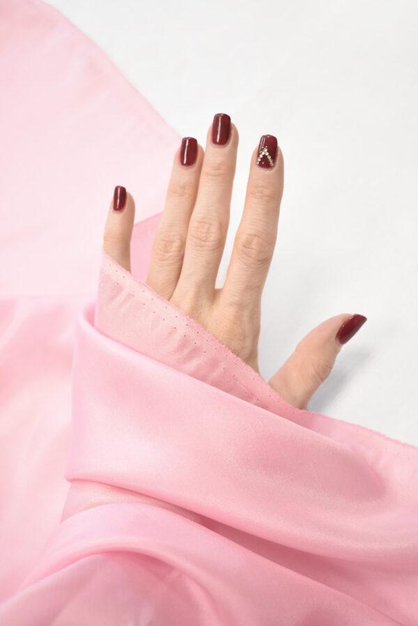 Шелк подкладочный розовый (7655) - Фото 10