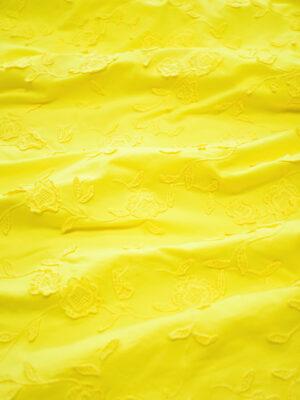 Трикотаж желтый с вышивкой (8191) - Фото 22