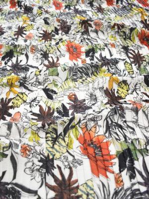 Плиссе белое с разноцветными цветами (9075) - Фото 14