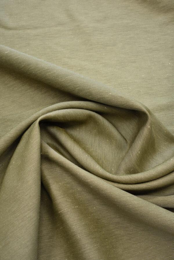 Костюмная ткань бежевая в рубчик (9244) - Фото 10
