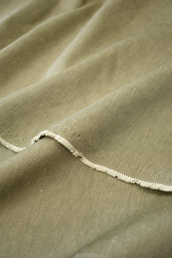 Костюмная ткань бежевая в рубчик (9244) - Фото 9