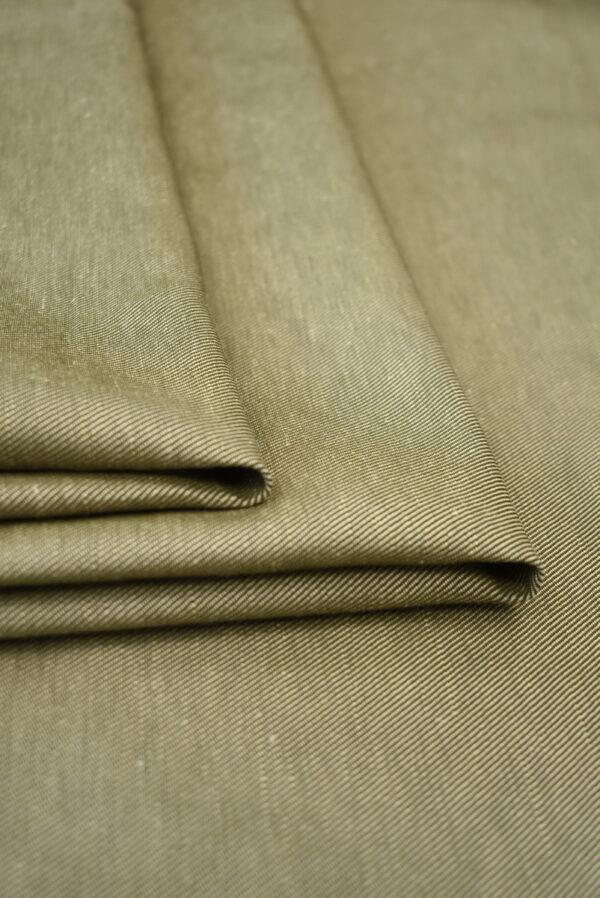 Костюмная ткань бежевая в рубчик (9244) - Фото 8