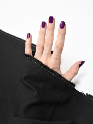 Костюмная ткань стрейч черная (9250) - Фото 15