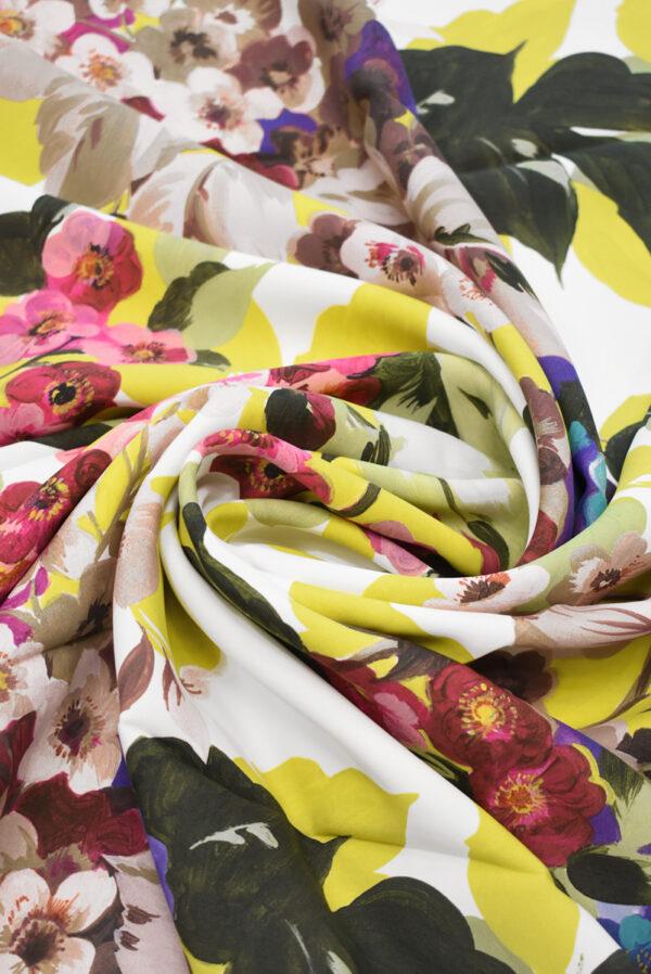 Кади с цветами и листьями на белом фоне (9297) - Фото 8