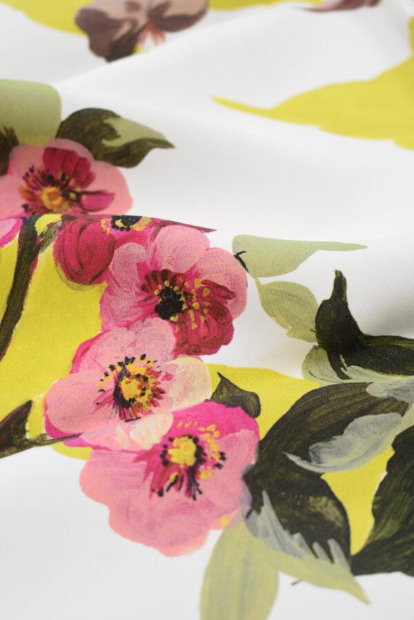 Кади с цветами и листьями на белом фоне (9297) - Фото 11