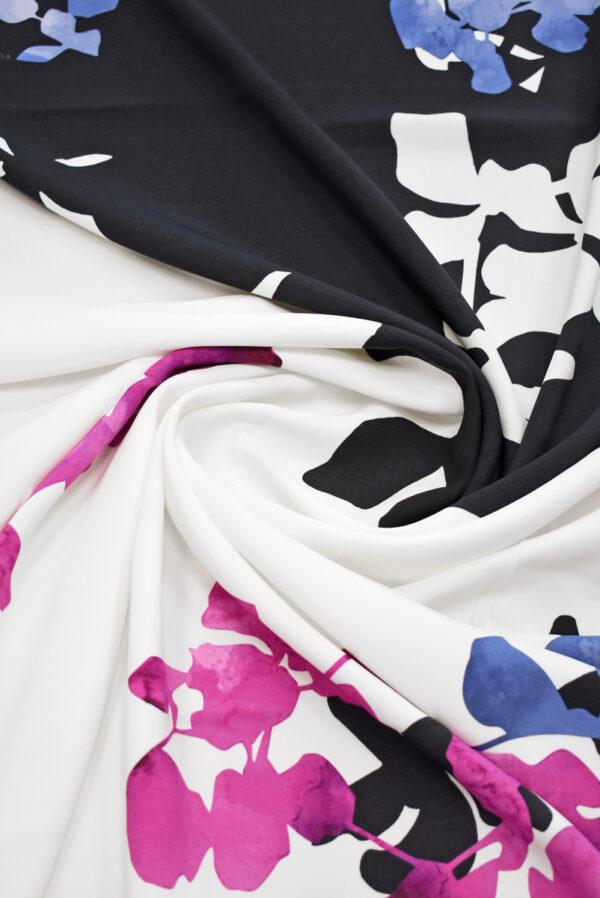 Кади с купоном абстрактные цветы на черно-белом (9300) - Фото 7