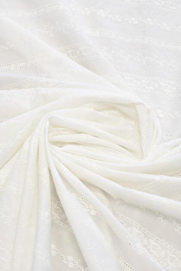 Шитье молочного оттенка в полоску и орнаментом (9302) - Фото 8