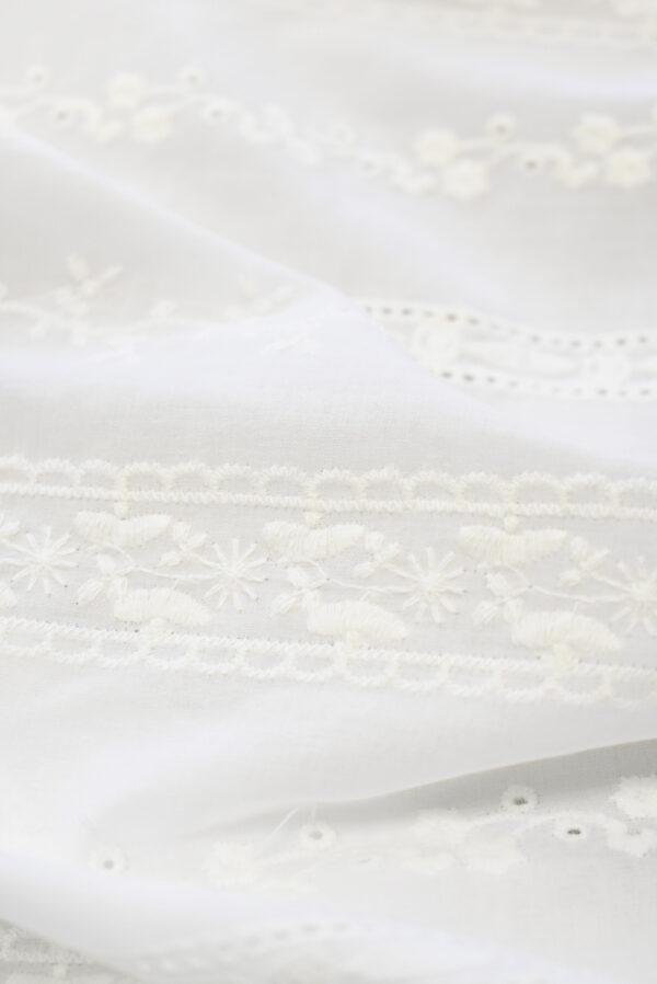 Шитье молочного оттенка в полоску и орнаментом (9302) - Фото 12