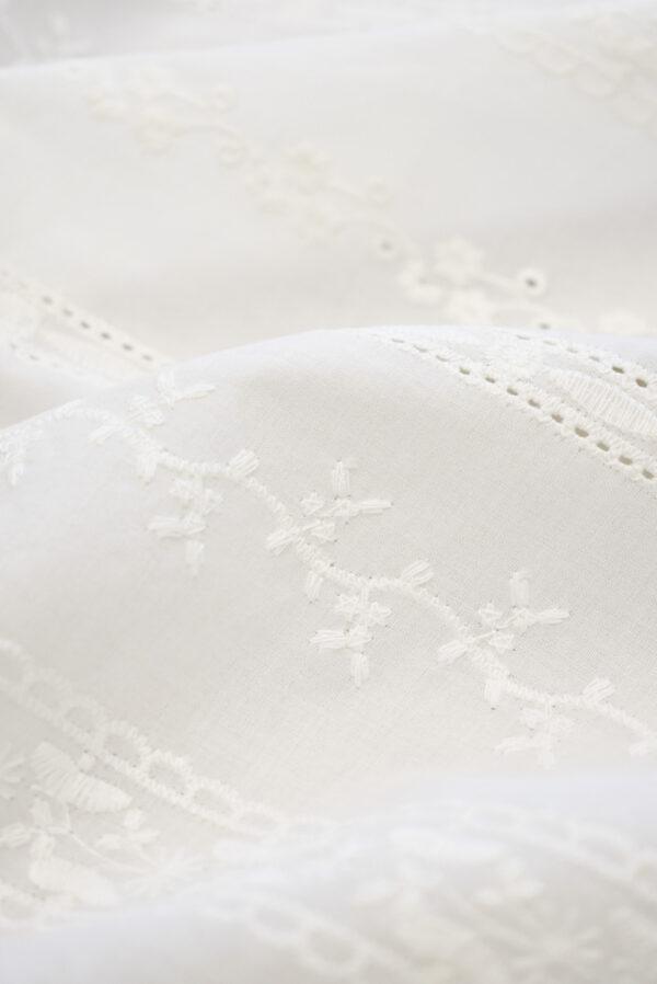 Шитье молочного оттенка в полоску и орнаментом (9302) - Фото 9