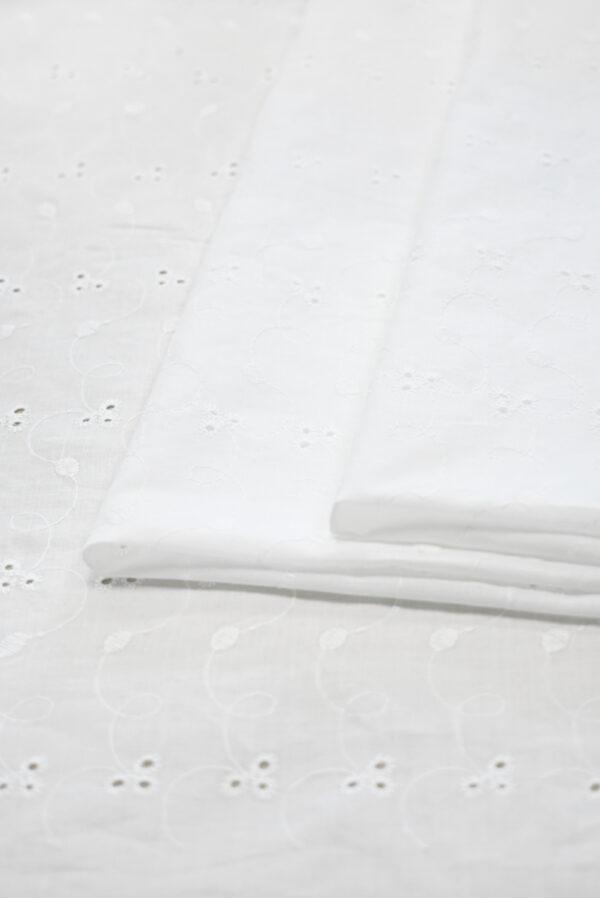 Шитье белого цвета узор с завитками (9304) - Фото 8