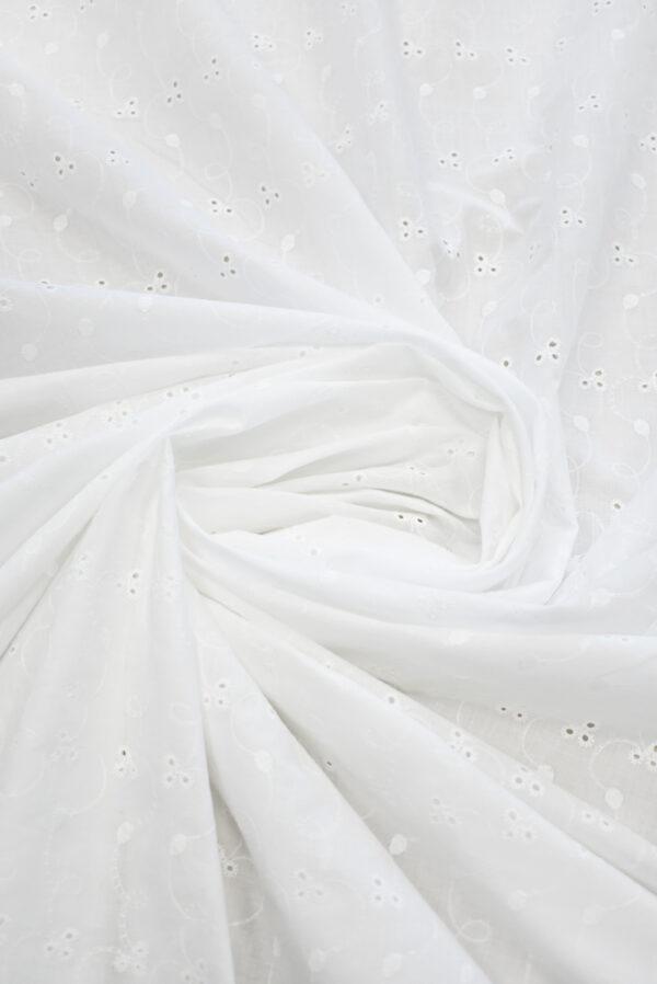 Шитье белого цвета узор с завитками (9304) - Фото 7