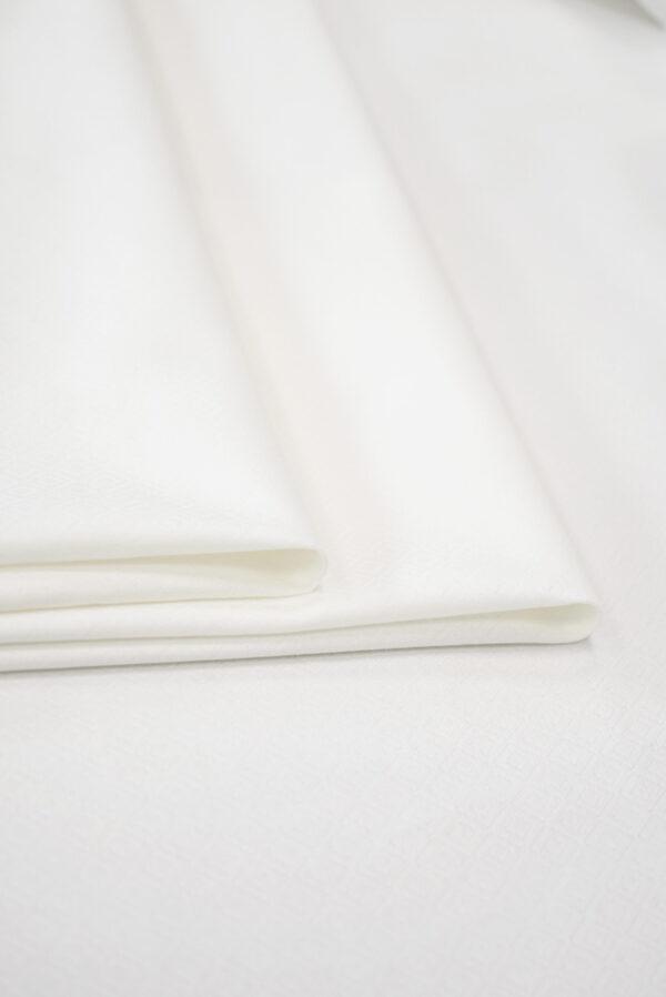 Жаккард белый в мелкий ромбик (9311) - Фото 9