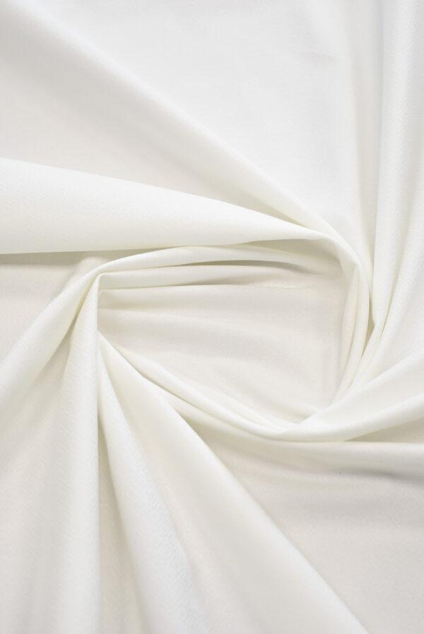 Жаккард белый в мелкий ромбик (9311) - Фото 8