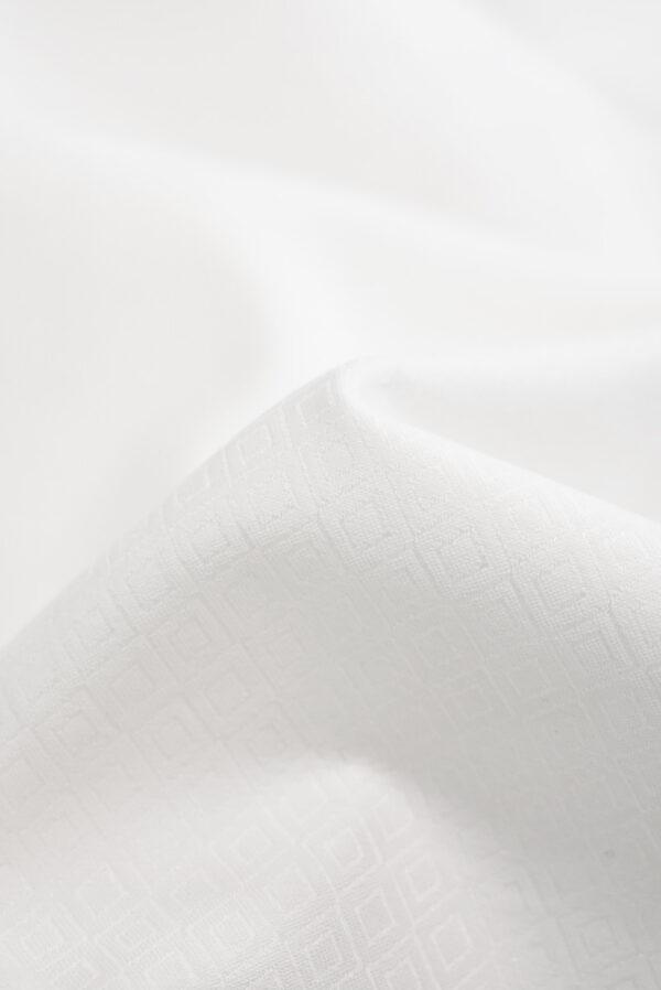 Жаккард белый в мелкий ромбик (9311) - Фото 10