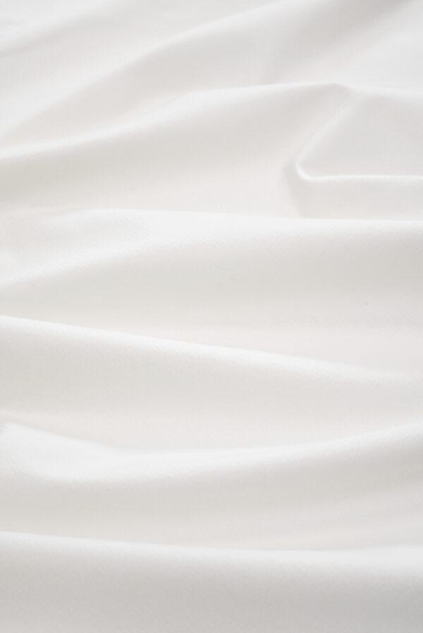 Жаккард белый в мелкий ромбик (9311) - Фото 6