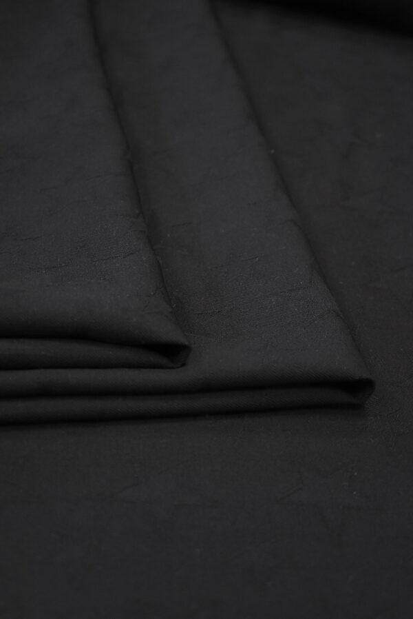Костюмная шерсть черная со звездами (9326) - Фото 9