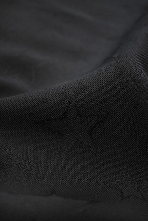 Костюмная шерсть черная со звездами (9326) - Фото 11