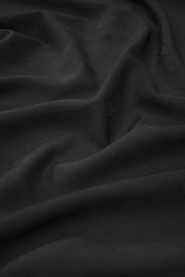 Костюмная шерсть черная со звездами (9326) - Фото 6