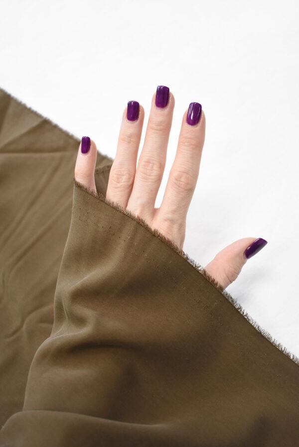 Шелк вареный коричневый (9328) - Фото 7