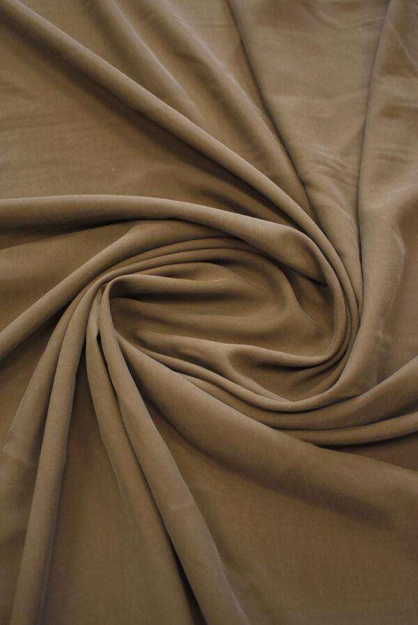 Шелк вареный коричневый (9328) - Фото 8