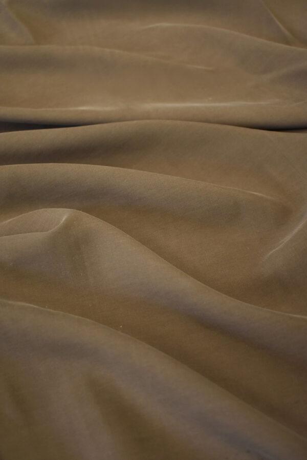 Шелк вареный коричневый (9328) - Фото 6