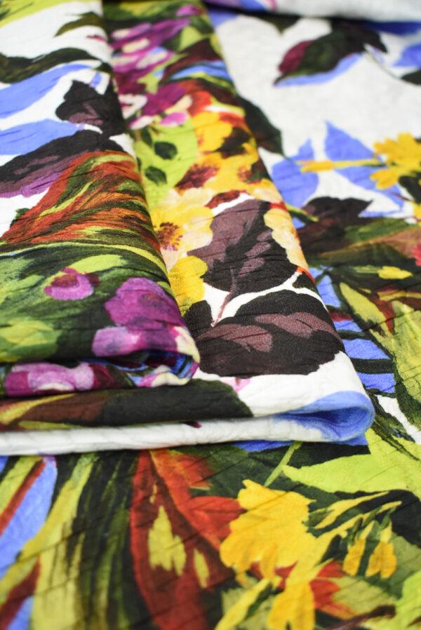 Матлассе с крупными цветами на белом (9349) - Фото 9