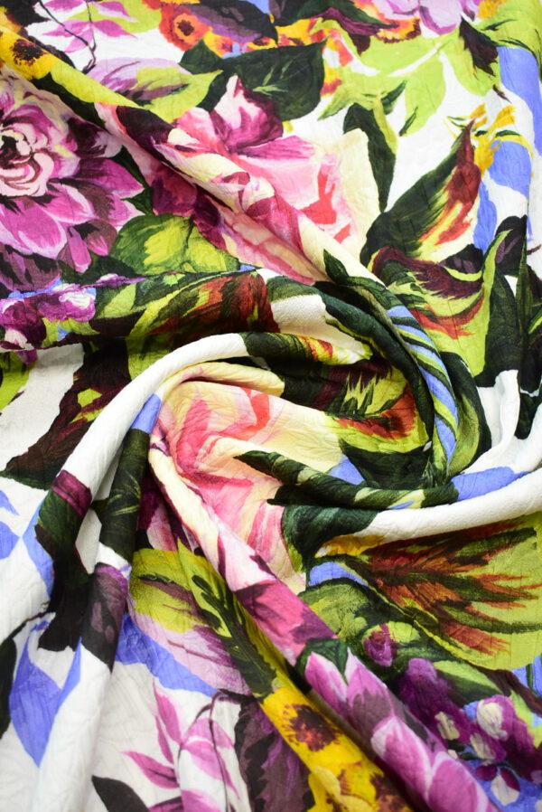 Матлассе с крупными цветами на белом (9349) - Фото 8