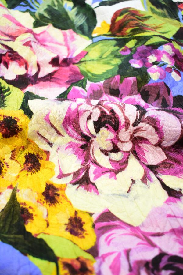 Матлассе с крупными цветами на белом (9349) - Фото 11