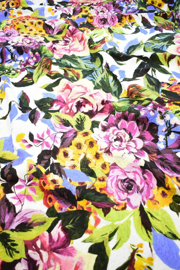Матлассе с крупными цветами на белом (9349) - Фото 6