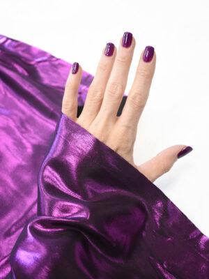Шелк фиолетового оттенка с глиттером (9351) - Фото 16