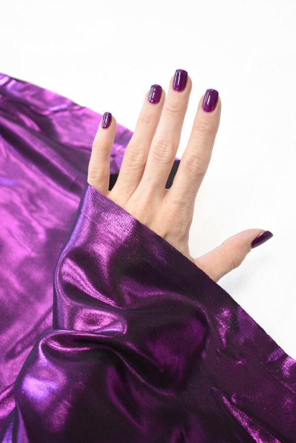Шелк фиолетового оттенка с глиттером (9351) - Фото 7