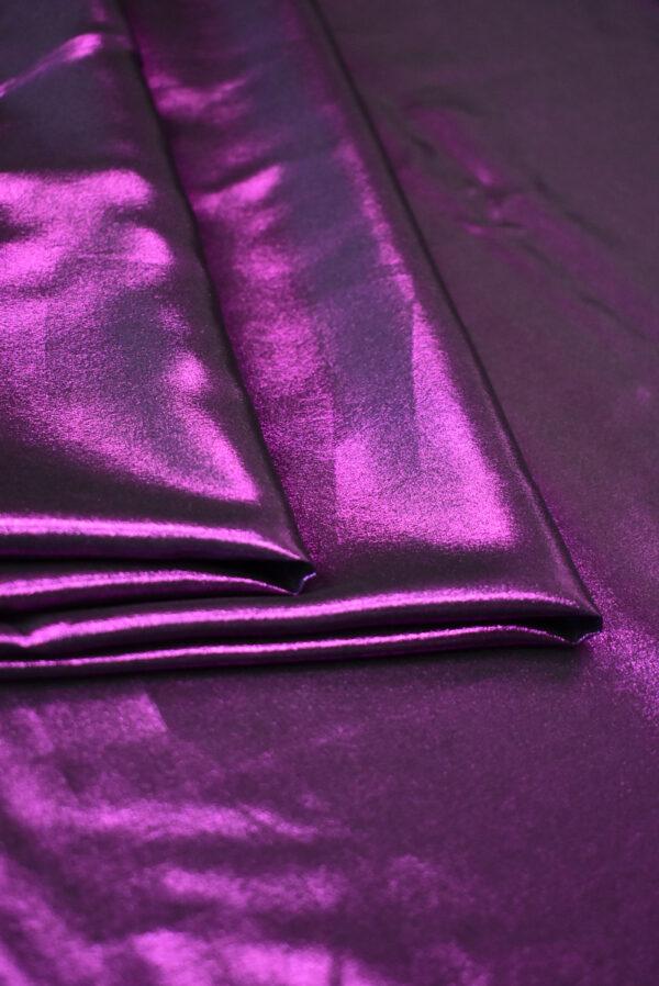 Шелк фиолетового оттенка с глиттером (9351) - Фото 8