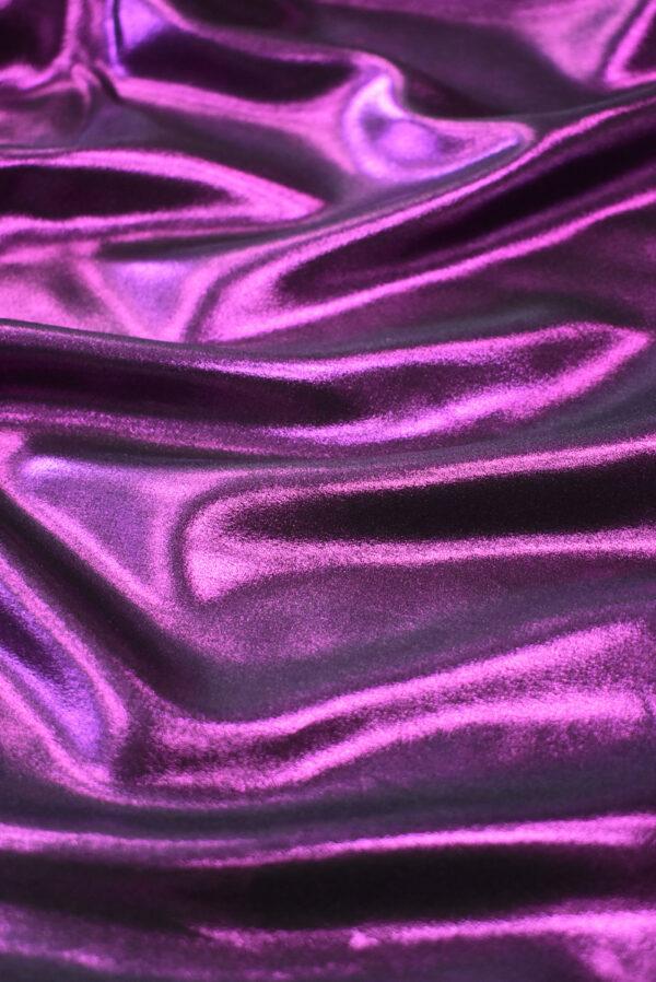 Шелк фиолетового оттенка с глиттером (9351) - Фото 6