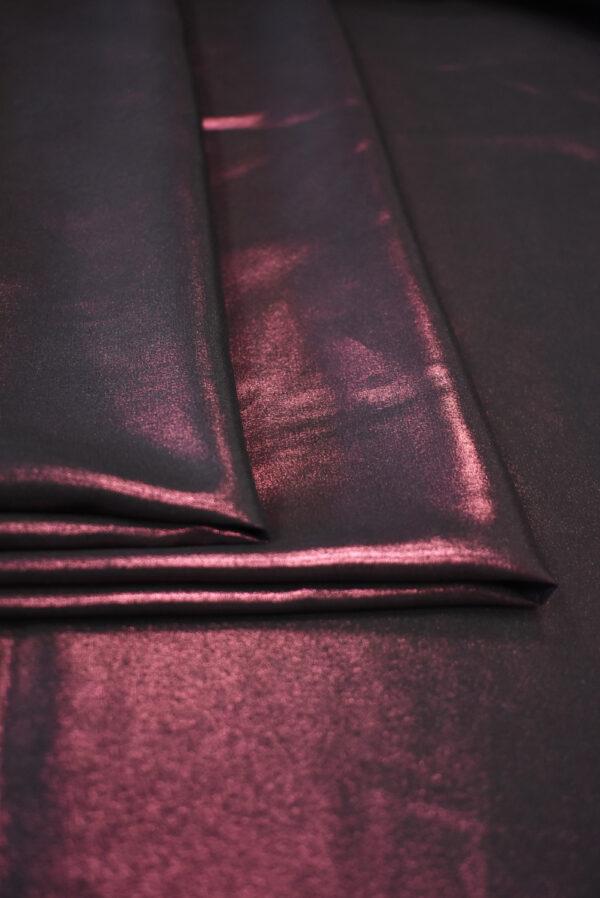 Шелк металлик с глиттером гранатовый оттенок  (9355) - Фото 8