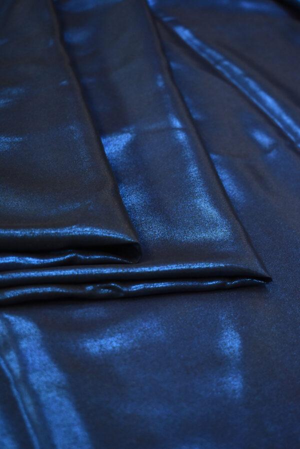 Шелк металлик синий глиттер (9358) - Фото 8