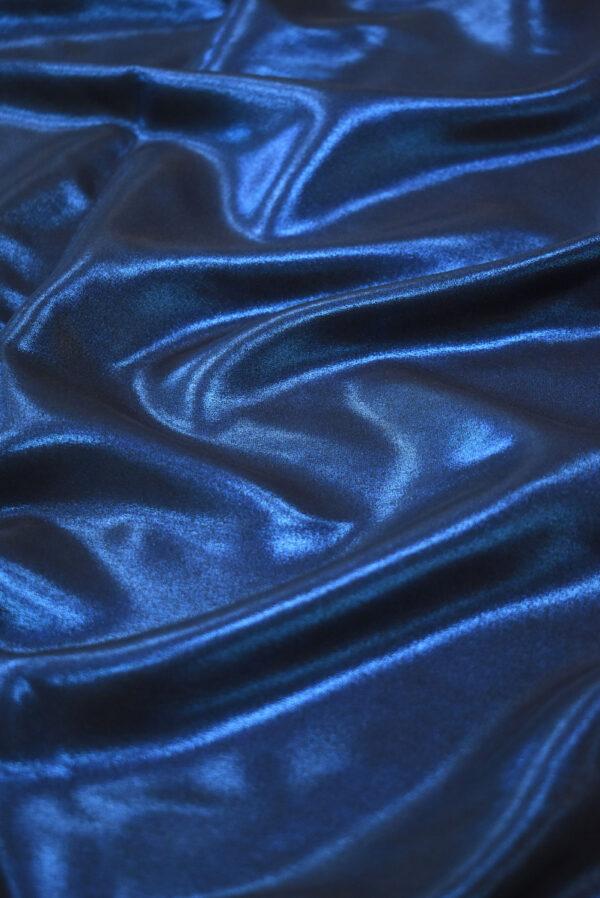 Шелк металлик синий глиттер (9358) - Фото 6
