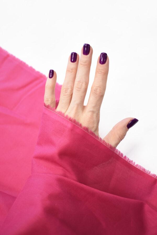 Хлопок темно-розового оттенка (9366) - Фото 7