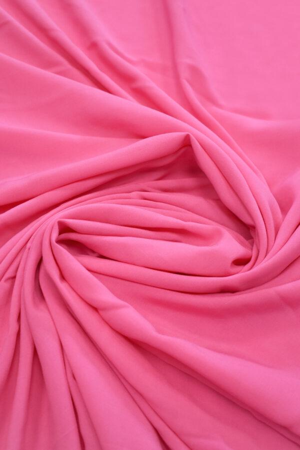 Штапель ярко-розового оттенка (9367) - Фото 7