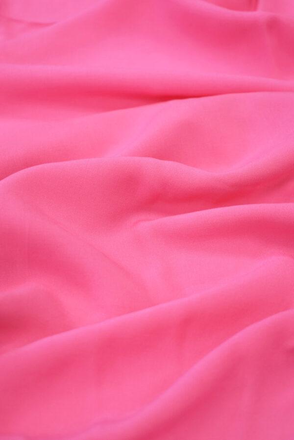 Штапель ярко-розового оттенка (9367) - Фото 6
