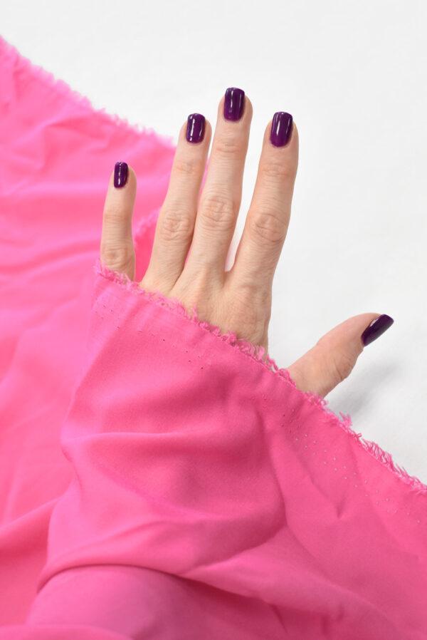 Штапель ярко-розового оттенка (9367) - Фото 10