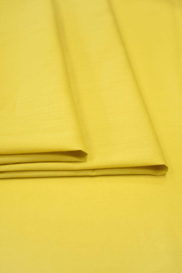 Хлопок желтого оттенка (9370) - Фото 8