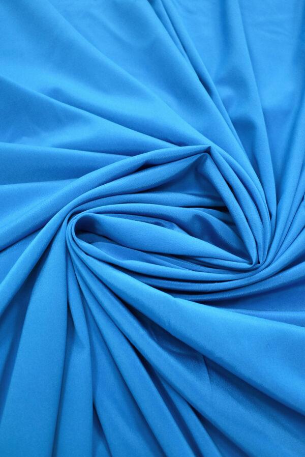 Шелк стрейч ярко-голубого оттенка (9394) - Фото 7